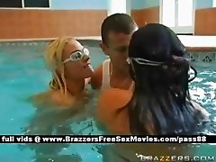 Two horny sluts in the pool
