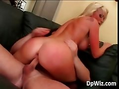 Big boobed babe gets tight asshole