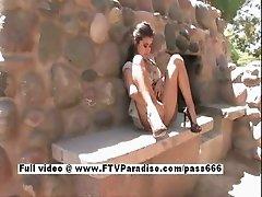 Alexa Loren stunning stunning brunette babe masturbating outdoors