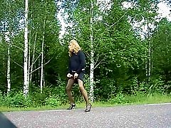 On public road