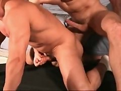 Scorching hot bareback muscle sex