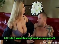 Devon Lee busty blonde blowjobs huge cock