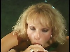 Blonde chick sucking hard cock