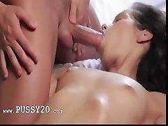 brunet babe cum like crazy during sex