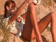 shocking natasha teen naked on the beach