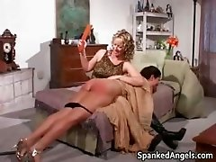 Sexy brunette slut gets slapped part5