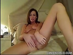 Sexy Webcam Girl Talks Dirty and Fingers her Hot Pussy