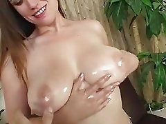 Sleazy whore Rucca Page stretches her ass cheeks to get a hairy pussy hammering