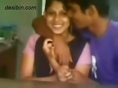 South Indian college couple from Alleppey kissing and getting hot in front of friends