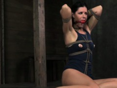 Gstring tied sub gagged and tormented