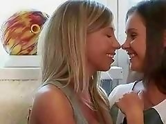 Nice teens licking and dildoing their asses