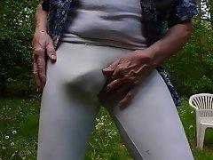 Guy in tight leggings.