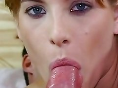 Cock loving babe Petra Short sexily takes a meaty pole in her sensual mouth