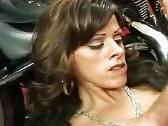 Brunette momma with big natural boobs gets slammed hard