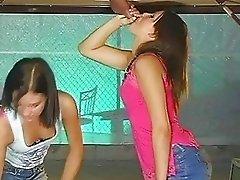 Sexy hottie Brandi Belle shares a juicy nob with her nasty hot girlfriend