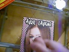 Cumming on a dvd Cover of Avril LAvinge