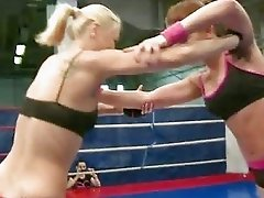 Two girls in the next round of catfight