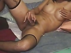 ladyboy shemale cums 3