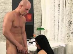 Anna Rose eats cock after a piss shower