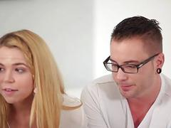 Step bro fuck Alina West on top of his cock
