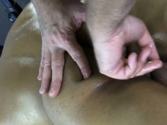 Amateur muscled straight butt fingered