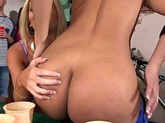 Hot blond rides on studs cock like a pro