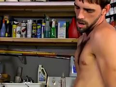 horny hairy hunk slams hot jocks tight asshole in the garage