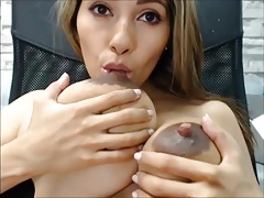 SEXY LATINA BIG SAGGY MILKY TITS