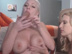Two Horny Blonde Lesbian Milfs Fucks