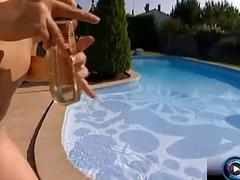 Rita Faltoyano and Katsumi rubbing each others wet