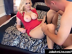 World Prominent Cougar Julia Ann Poked By two Fortunate Lollipops!