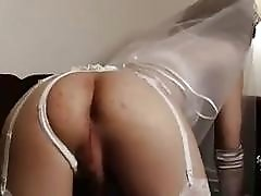 Japanese tranny bride Nene receives ass banging from her husband