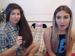 Long hair , Hair , Lesbians , Small tits