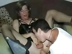Adrenalizing mature shemale crossdresses toy with each others cute assholes