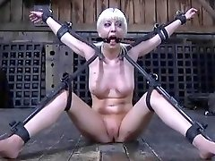 Blonde chick tied up and dominated by master BDSM movie