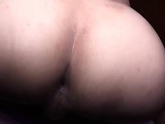 Skinny ladyboy teasing penis with her lips