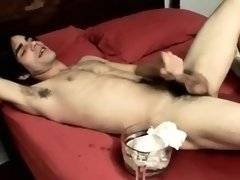 Twink movie of Splashed with a spunk fountain and laying in