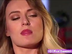 Cant believe this how security guard fucked super hot secretary Natalia Starr