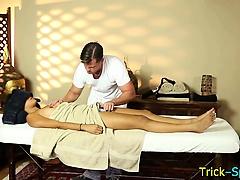 Asian babe spycam massage