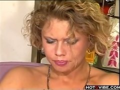 Watch these mature lesbians toying each other while in the kitchen for you to watch