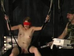 Big tits hotties bizarre thraldom non-professional porn play