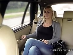 Huge dick taxi driver bangs busty blonde