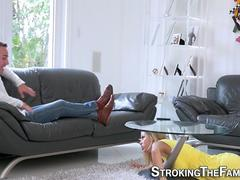 Milf stepmom jugs spunked