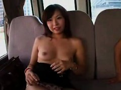 Oriental cuties expose their bodies and are made to cum wit