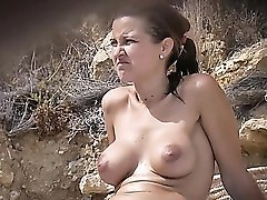 Amateur tits in a sexy beach compilation