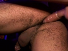Oiled up men are fully ready to take some hard cocks