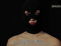 Masked beauty get her nipples twisted