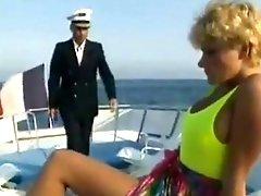 Classic retro scenes on a boat