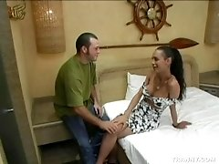 Hairy dude and his shemale lover get kinky
