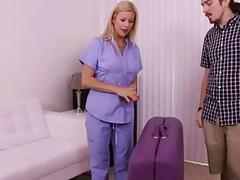 Blonde MILF Pulsating Cock Having Some Painful Org